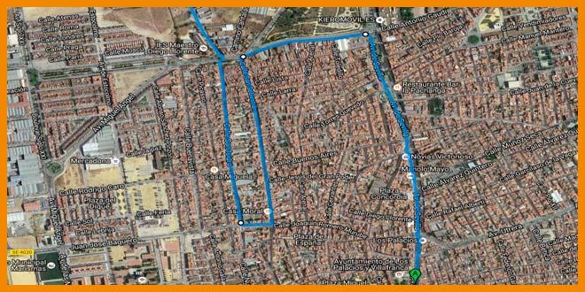 Ultimos kilómetros de la 39 Media Maraton Sevilla Los Palacios 2017   voyacorrer.com