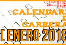 Carreras populares en Andalucía para Enero 2018