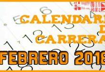 Carreras populares en Andalucía para Febrero 2018